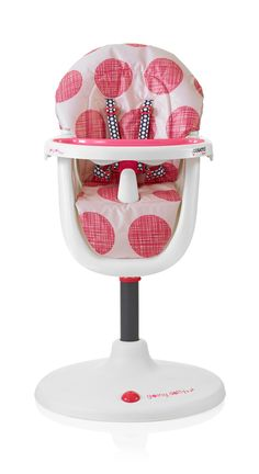 NEW for AW'14 - Cosatto 3Sixti2 Highchair in Macaroon #Macaroons #pink #spots #dots #cosatto #highchair #weaning