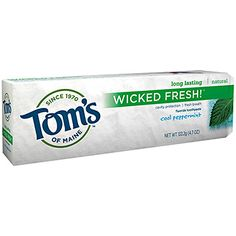 TomsofMaineStore.com : Cool Peppermint Wicked Fresh!  Fluoride Toothpaste Wicked Fresh! ™ Flouride Toothpaste