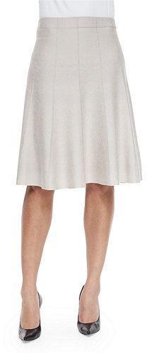 Nic+Zoe Paneled Twirl Skirt, Silver Cloud, Petite