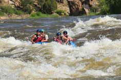 raft one of the rivers in  Colorado