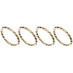 ASOS Extra Fine Finger Tip Ring Pack ($9.26) ❤ liked on Polyvore featuring jewelry, rings, accessories, aneis, anillos, gold, asos jewelry, finger tip rings, steel jewelry and asos