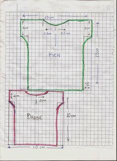 CREANDO IDEAS por EDITH5866: PATRONES PARA ROPITA DE BARBIE,MONSTER HIGH Y KEN