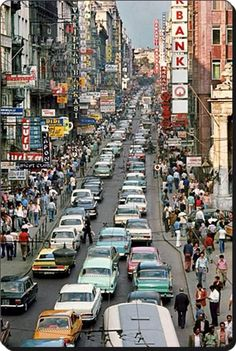 Istiklal caddesi - Istiklal street (#AraGuler 1970) #galatasaray #istiklalcaddesi #istanbul #turkey #istanlook