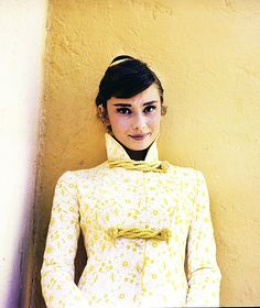 "Audrey Hepburn, on the set of ""War and Peace"" in Rome, Italy, 1955."