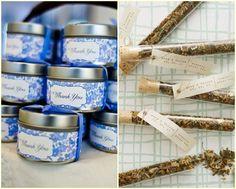 un recuerdito de boda con mezcla de té artesanal
