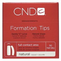 CND Formation Tips Natural 50-ct. Tip # 3 by CND Cosmetics. $9.52. CNDNatural Formation® is an extremely versatile tip that conforms nicely to most nail shapes. Designed with a gentle ?C curve, natural side arch and full contact area. 50-ct. Tip #3