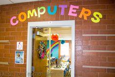 Rainbow themed classroom ideas.