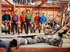 """""""Seven Brides For Seven Brothers"""" (1954) - The Pontipee Brothers won the Barn Dance brawl."""