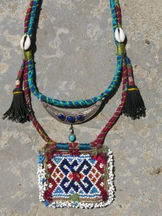 Ethnic necklace with beaded Kuchi centerpiece and by EthnicTree, $165.00