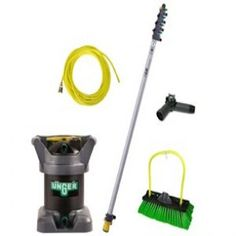 Pure water cleaning cuts glass cleaning time in half and makes the job significantly easier and safer. $727.50 / Kit #windowcleaningkit #hydropower