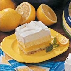 Lemon Cream Dessert - delicious!!!  LOVE LOVE LOVE it - trust me on this one!!!!  Sheli