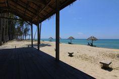 Free stock photo of beach beach chairs beach hut