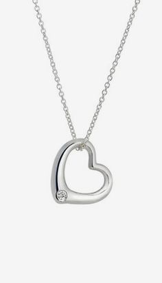 Heart Pendant with Conflict Free Diamond in Silver
