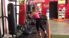 Logan working with The Stroops during her boxing routine! #woodallsfitne...