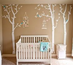 Pop Decors Removable Vinyl Art Wall Decals Mural for Nursery Room, Three Birch Trees and Birdcage Pop Decors http://www.amazon.com/dp/B004KI4XJM/ref=cm_sw_r_pi_dp_lzMZub168E6JE