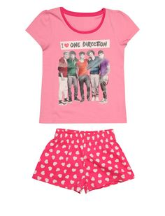 Boyband Pyjama Set £10    Lets go crazy, crazy, crazy till we see the sun… in these amazing One Direction PJ's. Perfect for summer this short and t-shirt set is ideal for warm nights with a pic of everyones fave boy band!    #onedirection #1d #directioners #peacocks