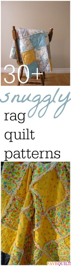 Trendy ideas for patchwork baby blanket pattern rag quilt Quilting Tutorials, Quilting Projects, Quilting Designs, Sewing Tutorials, Sewing Crafts, Quilting Ideas, Sewing Projects, Sewing Diy, Baby Rag Quilts