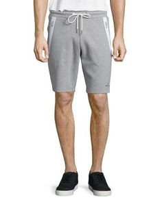 865d6dd727 Shop zip pocket knit sweat shorts gray from Moncler in our fashion  directory.