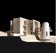 Richard Meier's Hans Arp Museum Rolandseck, Deutschland: Model by Jock Pottle.