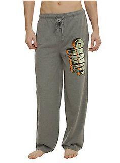 <p>Comfy heather grey guys pajama pants with <i>Gravity Falls</i> logo design on the left leg and an elastic drawstring waist with single button fly.</p>  <ul> <li>55% cotton; 45% polyester</li> <li>Wash cold; dry low</li> <li>Imported</li> <li>Listed in men's sizes</li> </ul>
