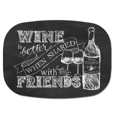 Wine Chalkboard Art, Free Printable. A Fit and Spicy Life | For the ...