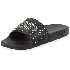 9e674e626effb Givenchy Studded Rubber Slide Sandal ( 395) ❤ liked on Polyvore featuring  men s fashion