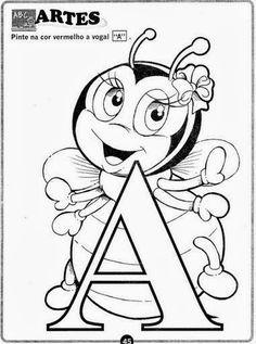 Educar X: Exercícios com as vogais para imprimir Smurfs, 1, Junho, Toddler Learning Activities, Educational Activities, Preschool Alphabet Activities, Kindergarten Worksheets, Teaching Aids