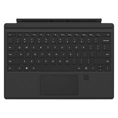 Surface Pro 4 Type Cover with Fingerprint ID - Black Microsoft Surface Pro 4, Surface Pro 3, Microsoft Pro, Fingerprint Id, Microsoft Corporation, Thing 1, Keyboard Cover, Pad, Apple Iphone