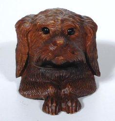 Unique c Swiss Black Forest Dog Inkwell Brienz
