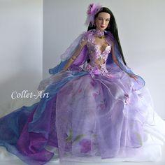 "https://flic.kr/p/219suDW   OOAK 22"" Tonner American Model 1/3 BJD SD SID Fashion Dress Clothes ""Enchanted"" by Collet-Art"