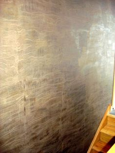 faux painting techniques on pinterest metallic wall