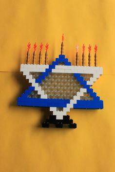 LEGO Happy Hanukkah Gift/KIT.  LEGO Menorah by notgirlscoutcookies, $22.00