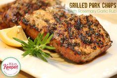 Grilled Pork Chops with Rosemary Garlic Rub It's a Keeper