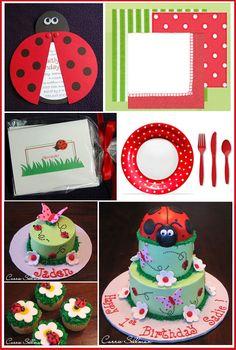 Ladybug Centerpiece Ideas | Half Baked – The Cake Blog » Inspiration Board: Ladybug Birthday