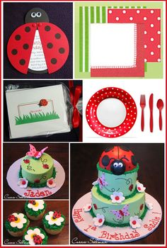 I might have to do a lady bug theme for Piper's first birthday!  I wanna make her cake...