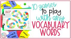 10 Games to Play with any Vocabulary Words