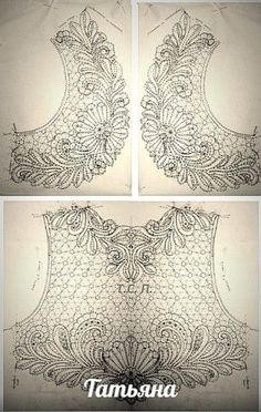 Awesome Most Popular Embroidery Patterns Ideas. Most Popular Embroidery Patterns Ideas. Tambour Beading, Tambour Embroidery, Beaded Embroidery, Irish Crochet, Crochet Motif, Crochet Lace, Embroidery Neck Designs, Bead Embroidery Patterns, Bobbin Lace Patterns