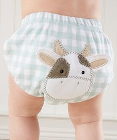 Look what I found on #zulily! Baby Aspen Blue & White Gingham Cow Diaper Cover - Infant by Baby Aspen #zulilyfinds