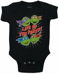 Teenage Mutant Ninja Turtles TMNT Baby Snapsuit Romper Bodysuit