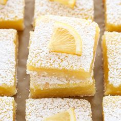 These Classic Lemon Bars feature an easy homemade shortbread crust and a sweet and tangy lemon filling. These bars are so easy to make!