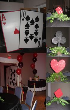 DIY Casino Party Decorations   How to Make a Budget DIY Poker Theme Centerpiece – YouTube