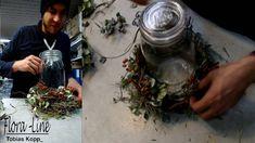 Deko selber machen: Einmachglas ausgarnieren und mit Kerze bestücken