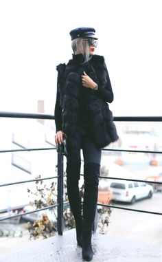 Thigh High Boots, Thigh Highs, Black Suede, Winter Jackets, Style Inspiration, Fashion Bloggers, Outfit, My Style, Instagram