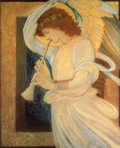 "AN ANGEL  Edward Burne-Jones (1833-1898), ""An Angel"""