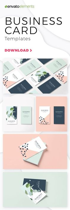 Unlimited Downloads of 2018's Best Business Card Templates #businesscard #template #download