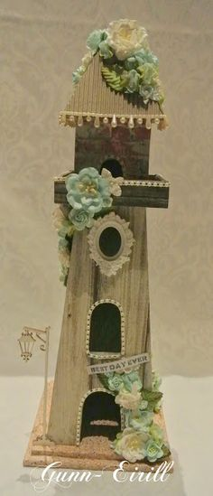 Gunn-Eirill`s Paper Magic: Altered tower/ DT Wild Orchid Crafts