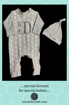 033a24c03 Adorable grey and white henley style coverall with matching hat features  the ever-popular arrow