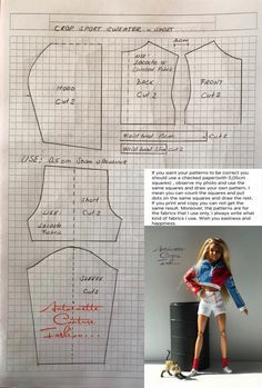 Fashion Dolls Couture - Unlimited: -Made to Move Barbie - Barbie Kleidungsmuster, Barbie Mode, Barbie Basics, Barbie Dress, Sewing Barbie Clothes, Barbie Sewing Patterns, Doll Dress Patterns, Clothing Patterns, Skirt Patterns