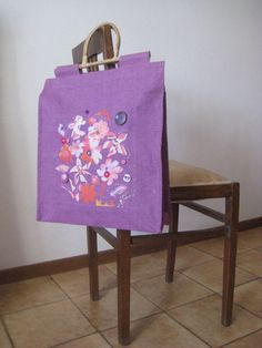 Borsa shopping center e viola by InSetArte on Etsy