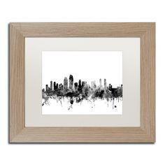 San diego skyline silhouette printable skyline pdf png svg michael tompsett san diego ca skyline bw matted framed art solutioingenieria Gallery